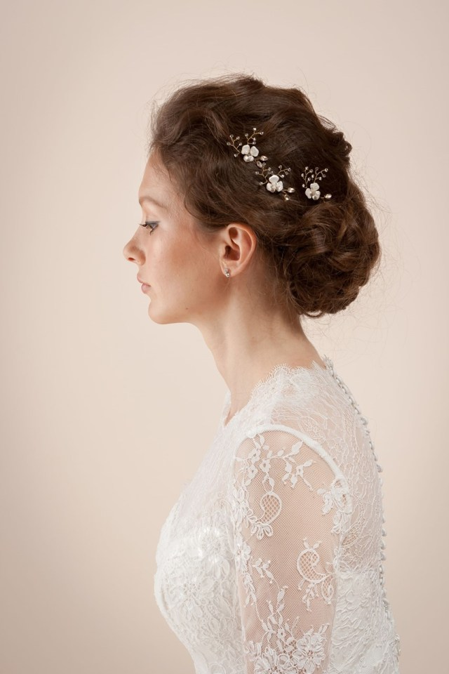 a new collection of elegant bridal hair accessories & veils