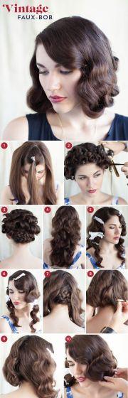 elegant art deco bridal hair