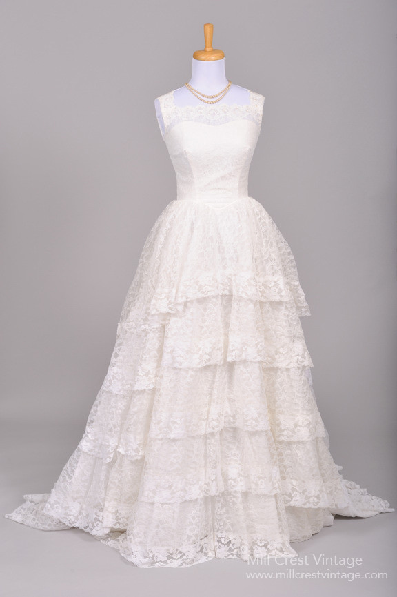 Beautiful Authentic Vintage 1950s Wedding Dresses  Chic