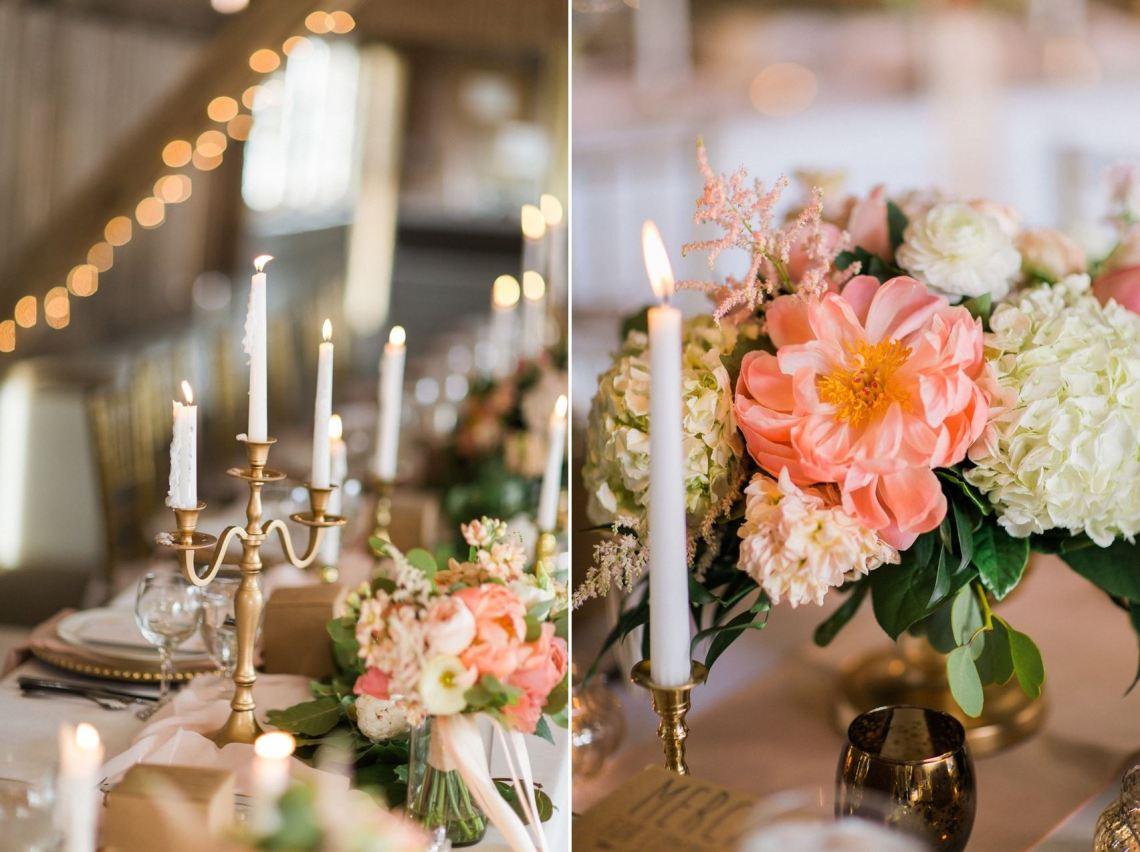 Elegant Wedding Tablescape - A Romantic Modern-Vintage ...