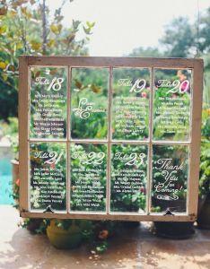 Window wedding seating chart also chic vintage brides rh chicvintagebrides