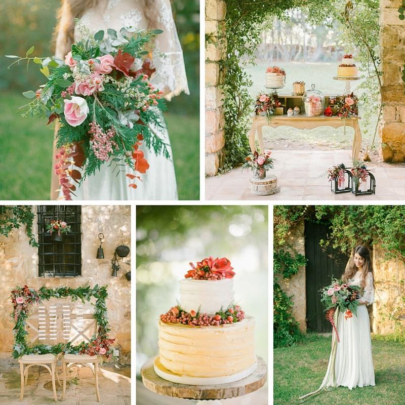 Vintage Boho Autumn Wedding Inspiration  Chic Vintage