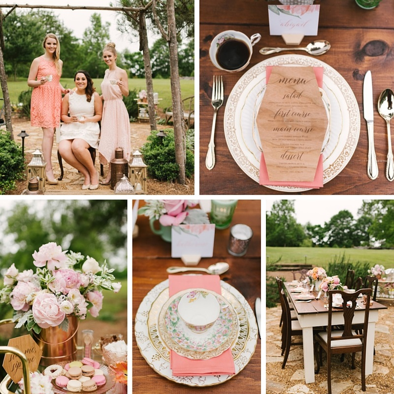Chic Coffee Loving Garden Bridal Shower Ideas Chic Vintage
