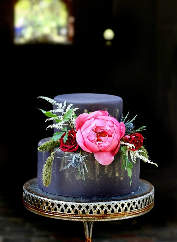 Matt Black Wedding Cake