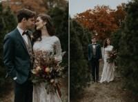 Modern-Vintage Christmas Tree Farm Wedding Inspiration in ...
