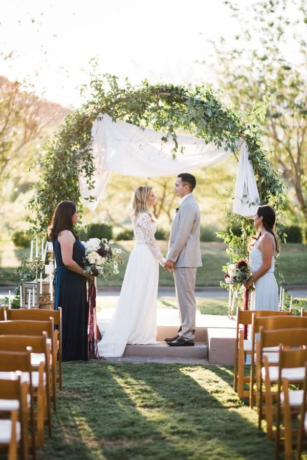 Chic Garden Wedding Inspiration In Burgundy & Blush