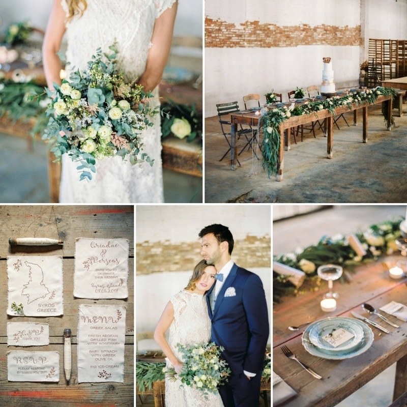 Greenery Filled Rustic Vintage Wedding Inspiration from