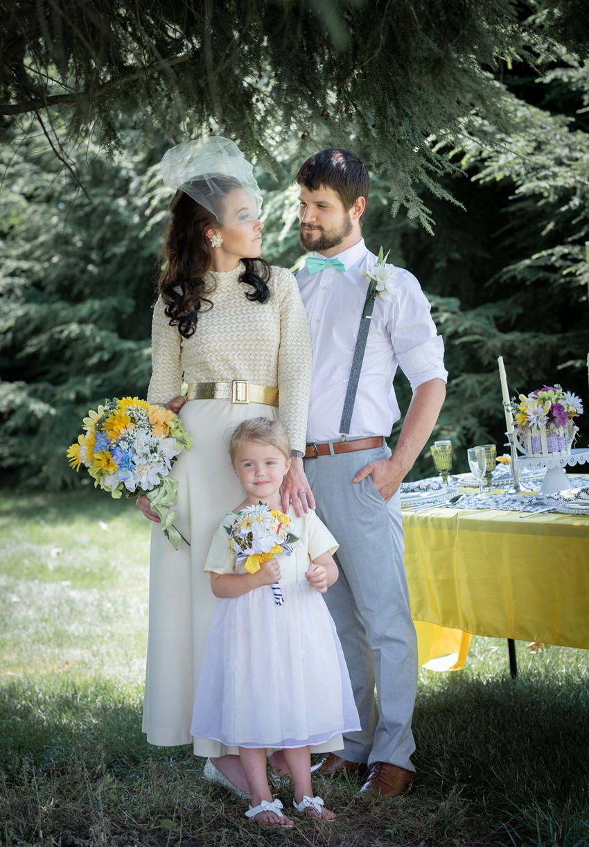 1960s Inspired Summer Wedding