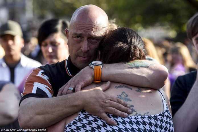 Heartbreaking scene at the bury after manchester attack