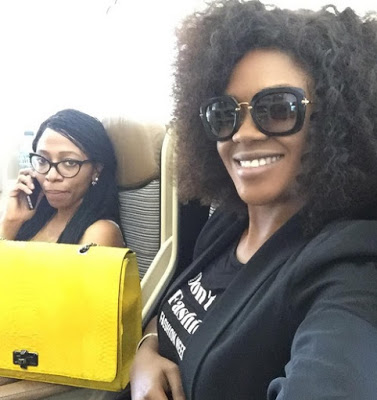 Omotola Jalade and Omoni Oboli have jut arrived India