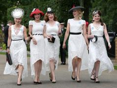 Royal Ascot Ladies' Day sees racegoers glam up in stylish summer dresses,