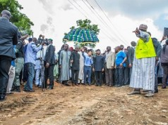 Acting President Osinbajo's Visit To Collapsed Mokwa-Jebba Bridge -PHOTOS