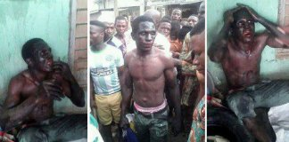 Three Badoo suspects were set ablaze by angry Residents after chasing Police away