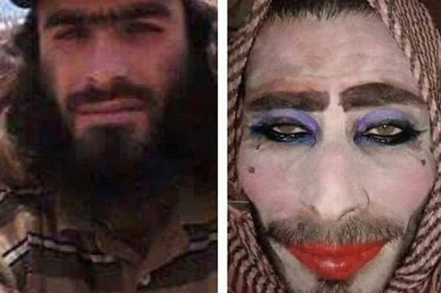 ISIS dresses like woman wear makeup and wig