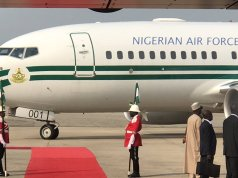 Atlast Buhari returns home