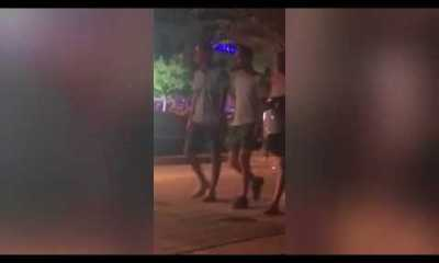 Video: Shameless couple caught having sex on a bench in front of shocked onlookers 1