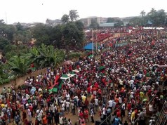 IPOB members protested in Anambra