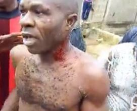 Lagos Landlord stripped after trying to rape a little boy