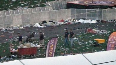 Harrowing pictures show eerie aftermath of country music festival where gunman killed at least 59