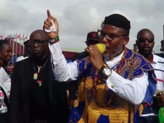 Biafra is prevailing with Nnamdi kanu in the picture