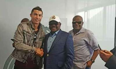Governor Wike poses with Cristiano Ronaldo [See Photos]