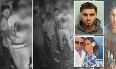 Dramatic CCTV shows TOWIE star Ferne McCann's ex Arthur Collins spraying acid inside packed nightclub leaving 22 burned