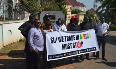 Libya Slave Trade: Charly Boy's group shuts down Libyan Embassy in Abuja