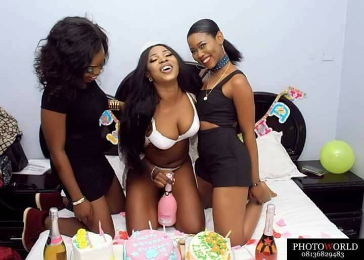 Birthday photos of a slay Queen went viral after posing with pant on Facebook