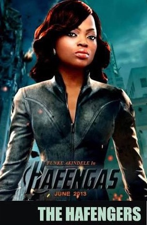 Nollywood comic star Funke Akindele in Hollywood's flick The Avengers