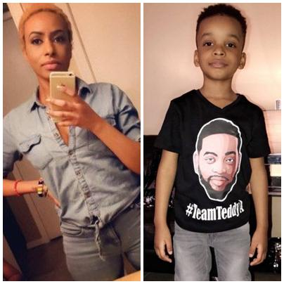 BBNaija 2018: Teddy-A's baby mama, Layla shows support, campaigns with son - See Photos