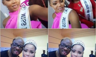 Miss Nollywood Queens spotted with Nollywood director Lancelot at a movie premier