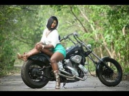 Nollywood Actress Chizzy Alichi stuns in motorcycle
