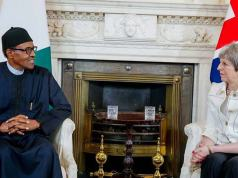 Theresa May and Buhari on homosexuality issue