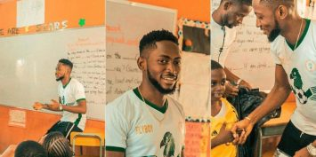 See what BBNaija 2018 winner, Miracle Igbokwe did when he visited schools