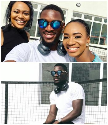BBNaija Tobi Bakre hangs out with Anto, Vandora in new photos
