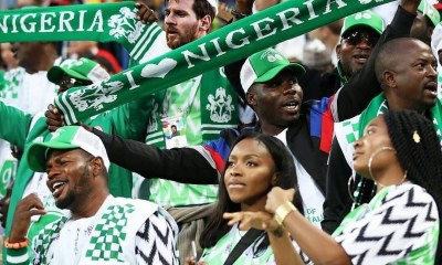 Lionel Messi supporting Super eagles