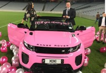 New Zealand fitness trainer proposes to his woman with a customised Range Rover (Photo/Video)