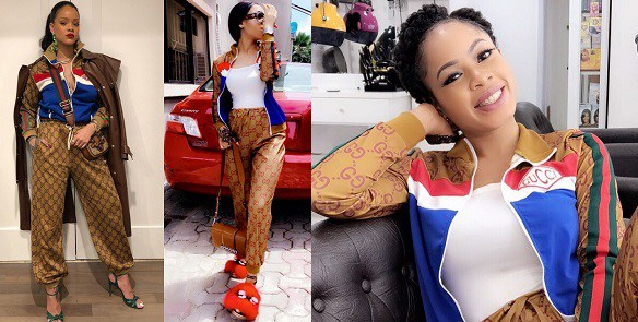 BBNaija Nina under fire for allegedly wearing a fake Gucci tracksuit