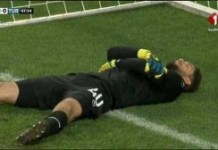 Tunisia goalkeeper 'fakes' injury during World Cup warm-up so his team-mates can break Ramadan fast (Photos/Video)