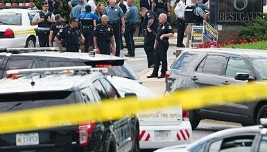 Five dead and twenty injured in mass shooting at Maryland's Capital Gazette newspaper building