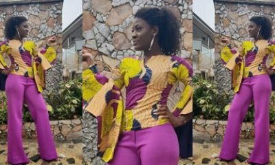 Fashion: Alex looks adorable as she rocks Ankara style in new photo
