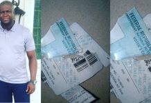 Angry man destroys his PVC following APC's victory in Ekiti state