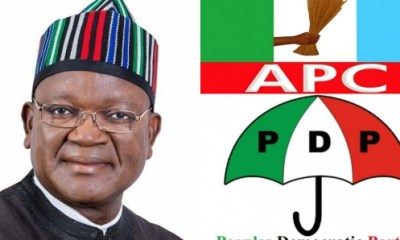 Governor Ortom of Benue state officially dumps APC for PDP