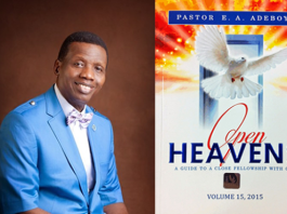 Open Heaven 17 February 2019 Sunday Devotional - Cry Out Now! by Pastor E. A. Adeboye