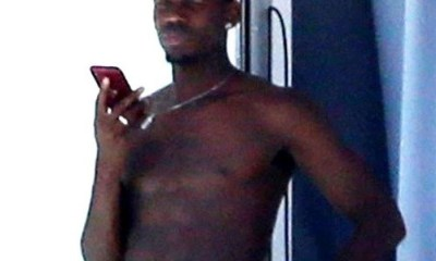Manchester United star Paul Pogba shows off his eggplant as he goes shirtless in new photos