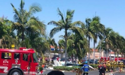 Small plane crashes into a parking lot, killing five people in California