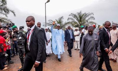 President Buhari storms Osun for APC mega rally
