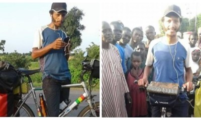 Man Rides Bicycle From Morocco To Nigeria To Sightsee (Photos)