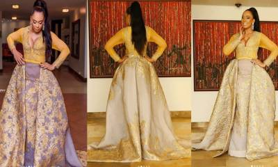 BEx-BNaija housemate TBoss reacts after being tagged among the worst dressed at the 2018 AMVCA