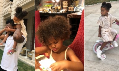 Football star Mikel Obi celebrates his twin daughters on their third birthday